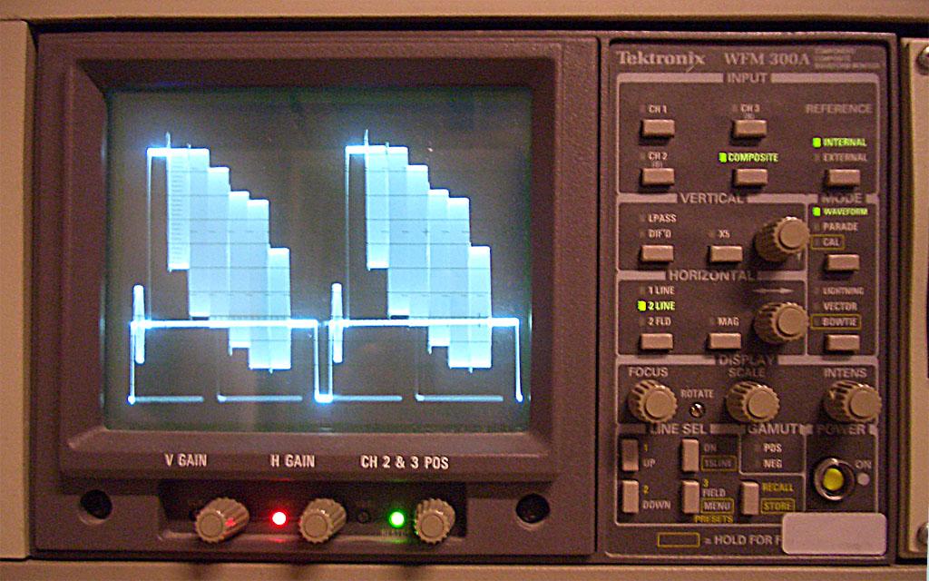A Tektronix WFM 300A